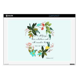 "Encouraging Bible Verses Art - Hebrews 8:12 Skins For 17"" Laptops"