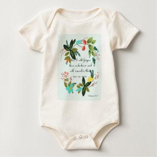 Encouraging Bible Verses Art - Hebrews 8:12 Baby Bodysuits