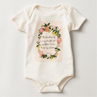 Encouraging Bible Verses Art - Isaiah 12:2 Baby Bodysuit