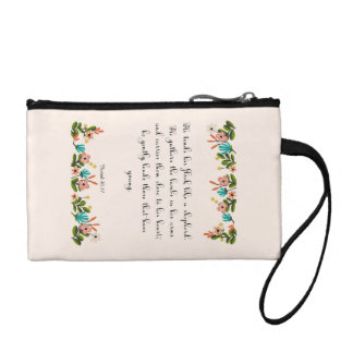 Encouraging Bible Verses Art - Isaiah 40:11 Coin Purse