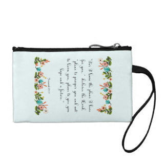 Encouraging Bible Verses Art - Jeremiah 29:11 Change Purse