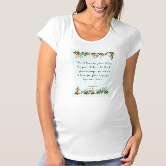 Encouraging Bible Verses Art - Jeremiah 29:11 Maternity T-Shirt