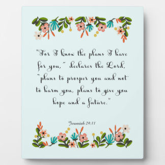 Encouraging Bible Verses Art - Jeremiah 29:11 Plaque