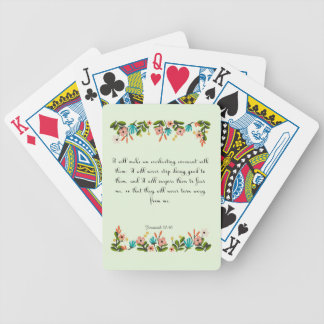 Encouraging Bible Verses Art - Jeremiah 32:40 Bicycle Playing Cards