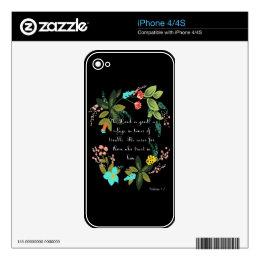 Encouraging Bible Verses Art - Nahum 1:7 iPhone 4 Skins