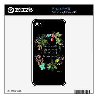 Encouraging Bible Verses Art - Nahum 1:7 Skin For iPhone 4S