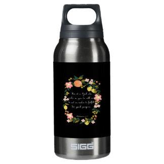 Encouraging Bible Verses Art - Philippians  2:13 Insulated Water Bottle