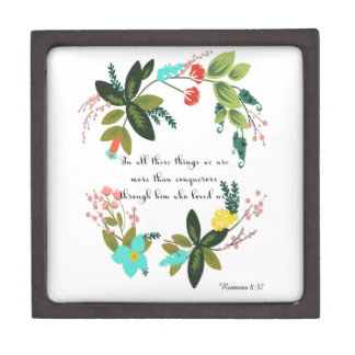 Encouraging Bible Verses Art - Romans 8:37 Gift Box