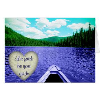 "Encouraging Card ""Let Faith be Your Guide"" Canoe"