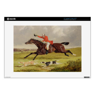 Encouraging Hounds, 1839 (oil on panel) Laptop Decal