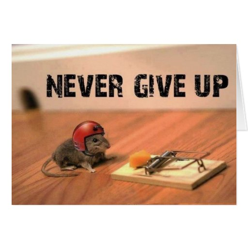 Encouraging Never Give Up Card