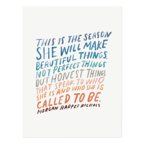 Encouraging quote for artists postcard