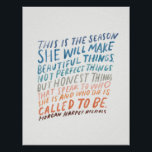 "Encouraging quote for artists poster<br><div class=""desc"">words and illustration by Morgan Harper Nichols</div>"