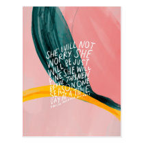 Encouraging quote for women postcard