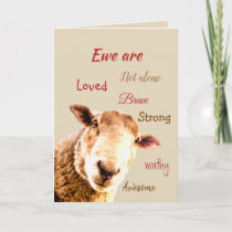 Encouraging Supportive Funny Get Well Soon Thank You Card