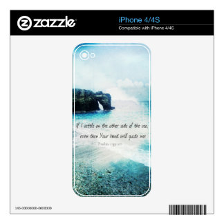 Encouraging Uplifting Inspiring Bible Verse Psalm Skin For The iPhone 4S