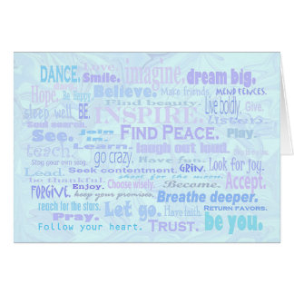 Encouraging words collage greeting card