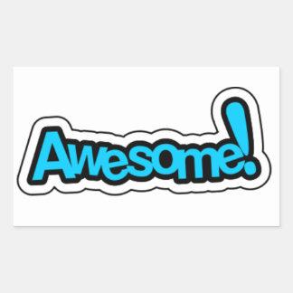 Encouraging Words Round Sticker, awesome Rectangular Sticker