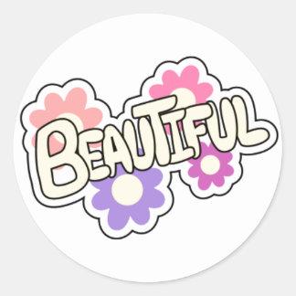 Encouraging Words Round Sticker, beautiful Classic Round Sticker