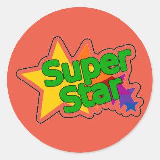 Encouraging Words Round Sticker, super star Classic Round Sticker