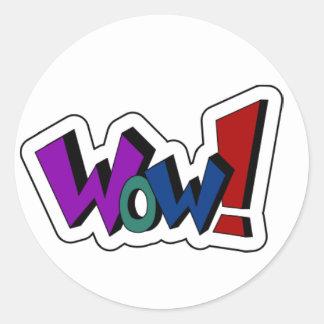 Encouraging Words Round Sticker, wow Classic Round Sticker