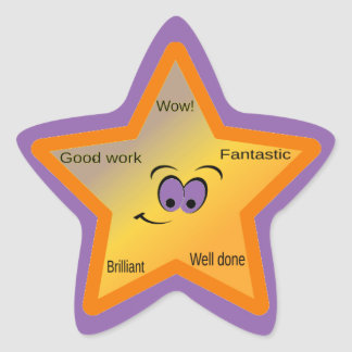 Encouraging Words Star Stickers