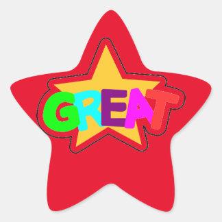 Encouraging Words Star Stickers, great Star Sticker