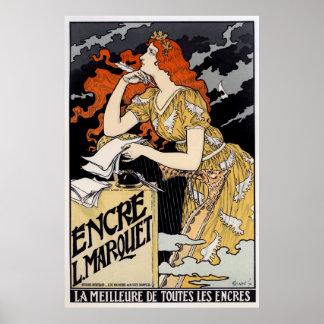 Encre L. Marquet, Eugène Grasset Póster