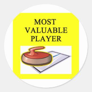 ENCRESPAR a la mayoría del jugador valioso Pegatina Redonda