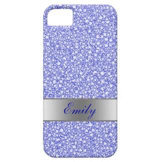 Encrusted Blue Diamonds Look Glitter Patter iPhone SE/5/5s Case