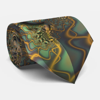 Encrusted Cool Abstract Fine Fractal Art Tie