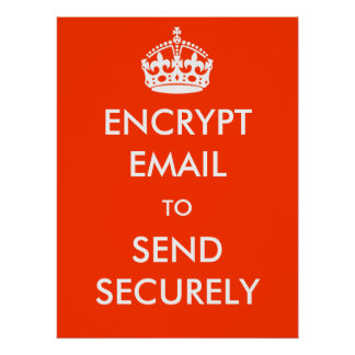 Encrypt Email to Send Securely Poster