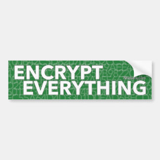 Encrypt Everything Bumper Sticker