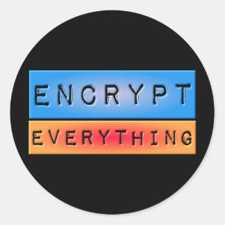 Encrypt Everything Classic Round Sticker