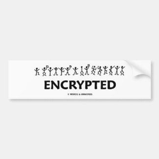 Encrypted (Adventure Of The Dancing Men Cipher) Bumper Sticker