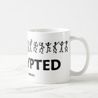 Encrypted (Dancing Men Stick Figures Cipher) Coffee Mug