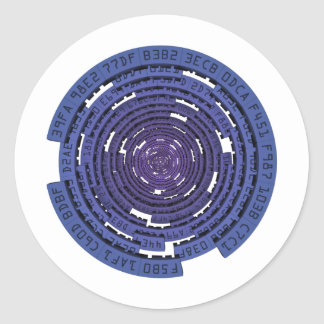 Encrypted Tunnel - BLUE Classic Round Sticker