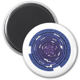 Encrypted Tunnel - BLUE Fridge Magnets