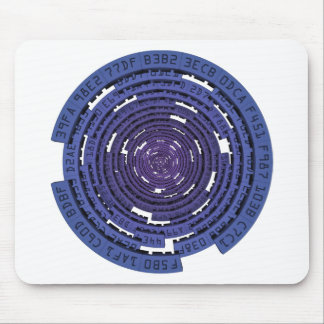 Encrypted Tunnel - BLUE Mouse Pad