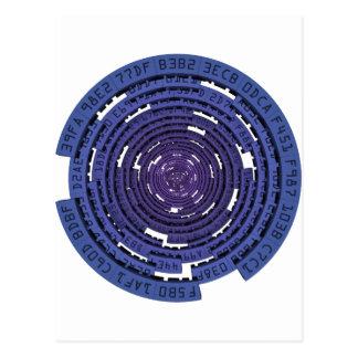 Encrypted Tunnel - BLUE Postcard