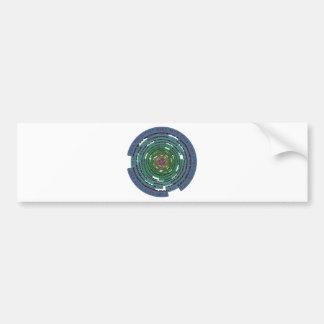 Encryption Circle - LOCKED Bumper Sticker
