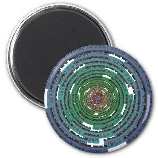 Encryption Circle - LOCKED Refrigerator Magnets