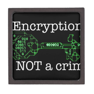 Encryption is not a Crime Keepsake Box