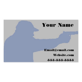 encubra la tarjeta de visita del arma de fuego de