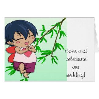 Encuentre a la hada del amor tarjeta de felicitación