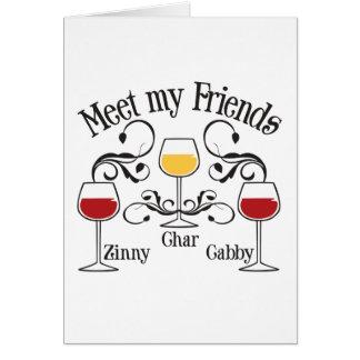 Encuentre a mis amigos del vino tarjetas
