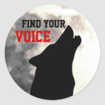encuentre a sus pegatinas de la voz
