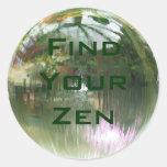 Encuentre a sus pegatinas del zen