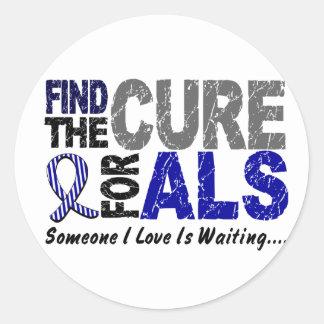 Encuentre el ALS de la curación 1 Pegatina Redonda