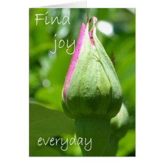 Encuentre la alegría diaria tarjeta pequeña